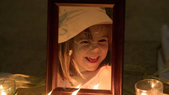 A photo of Madeleine McCann inside the Church of Nossa Senhora da Luz in Praia Da Luz, Portugal