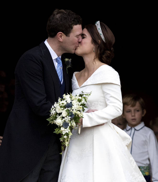 Princess Eugenie and Jack Brooksbank on their wedding day