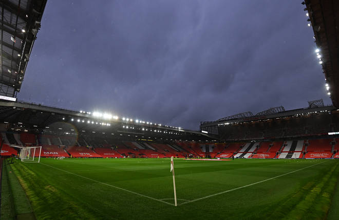 A general view of the stadium before a Premier League match at Old Trafford, Manchester