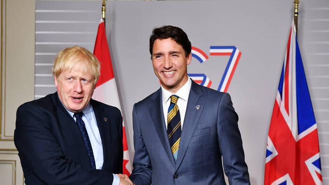 Boris Johnson and Justin Trudeau