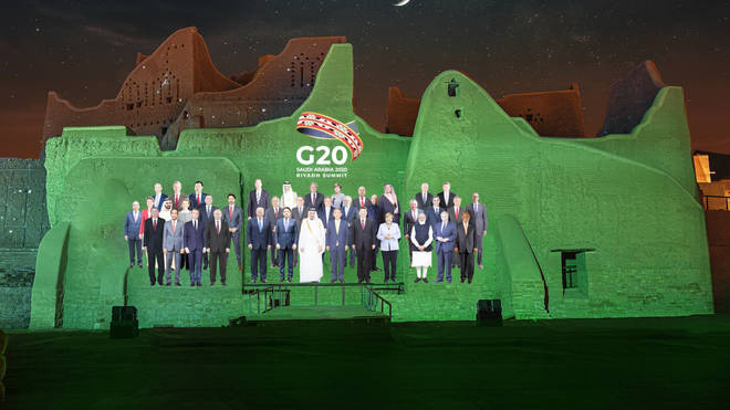 Saudi G20 group photo