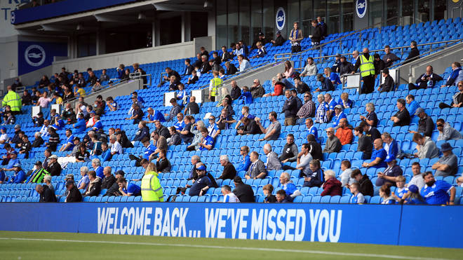 Some football fans were allowed to return to watch Brighton play Chelsea as part of a pilot event in August