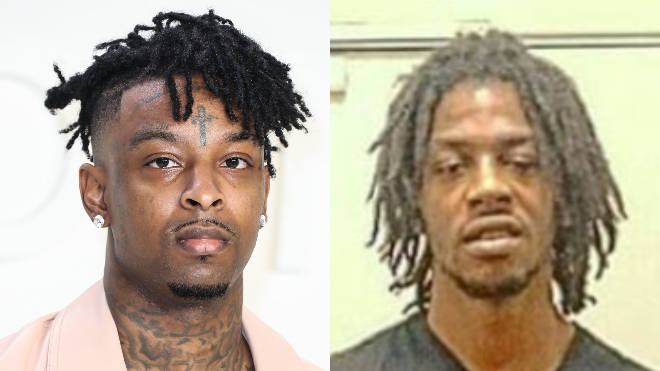 21 Savage (L) has paid tribute to his brother Terrell Davis (R)