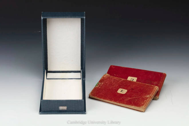The two notebooks had been pictured late in the year 2000 before going missing