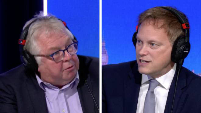 Grant Shapps told Nick Ferrari he would give any pay rise to charity