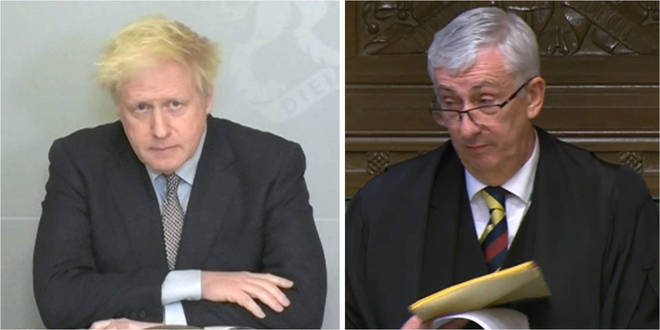 Boris Johnson was told off by Sir Lindsay Hoyle