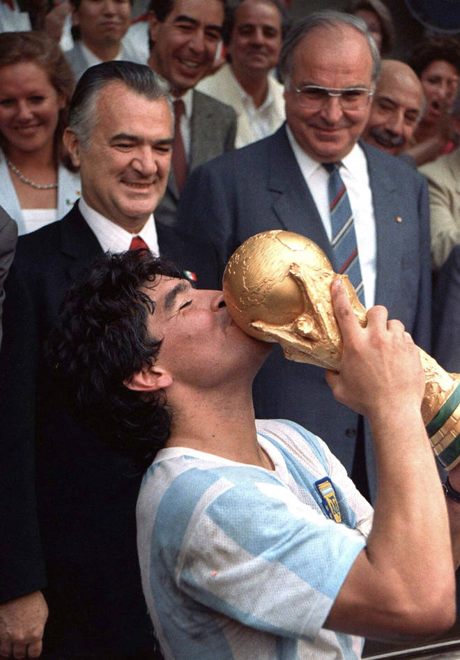 Maradona is widely regarded as one of the greatest footballers of all time