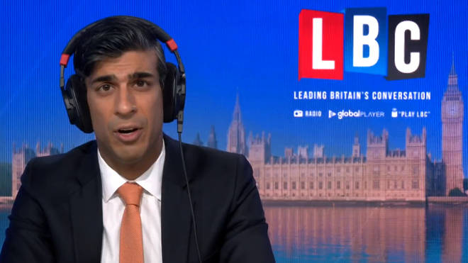 Rishi Sunak spoke to Nick Ferrari on LBC this morning
