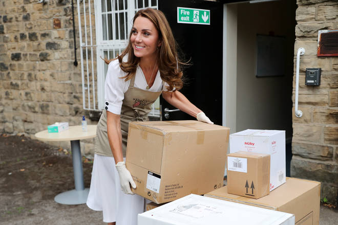 Kate Middleton has been helping at various charities throughout the pandemic