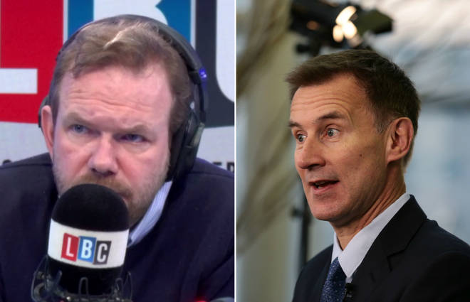James O'Brien spoke about Jeremy Hunt's comments