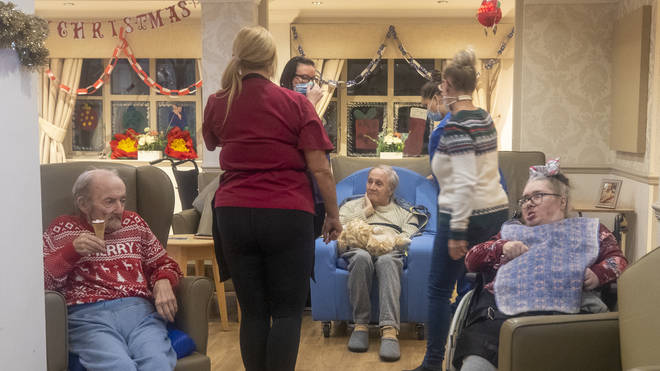 """File photo: The National Care Forum said homes had been advised about the """"dangers"""" of Yuletide decorations"""