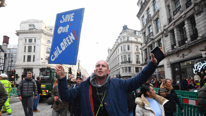 Anti-lockdown protesters have descended on London