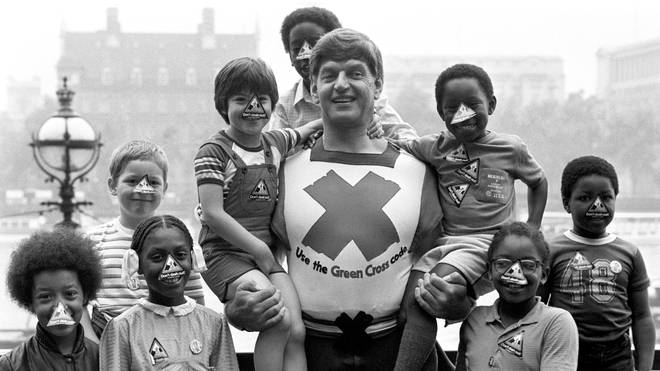 Prowse said his favourite job was as the Green Cross Man in the 1970s and 80s