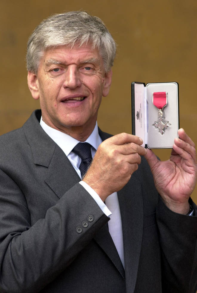 He was awarded and MBE for his part as the Green Cross Man
