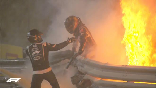 Romain Grosjean narrowly escapes death in Bahrain Grand Prix smash