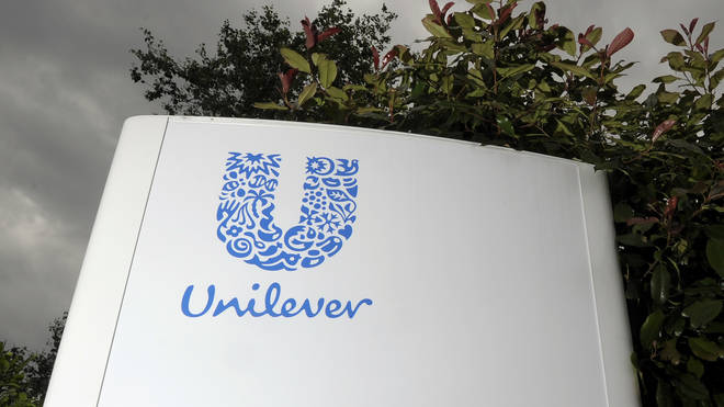 A Unilever sign