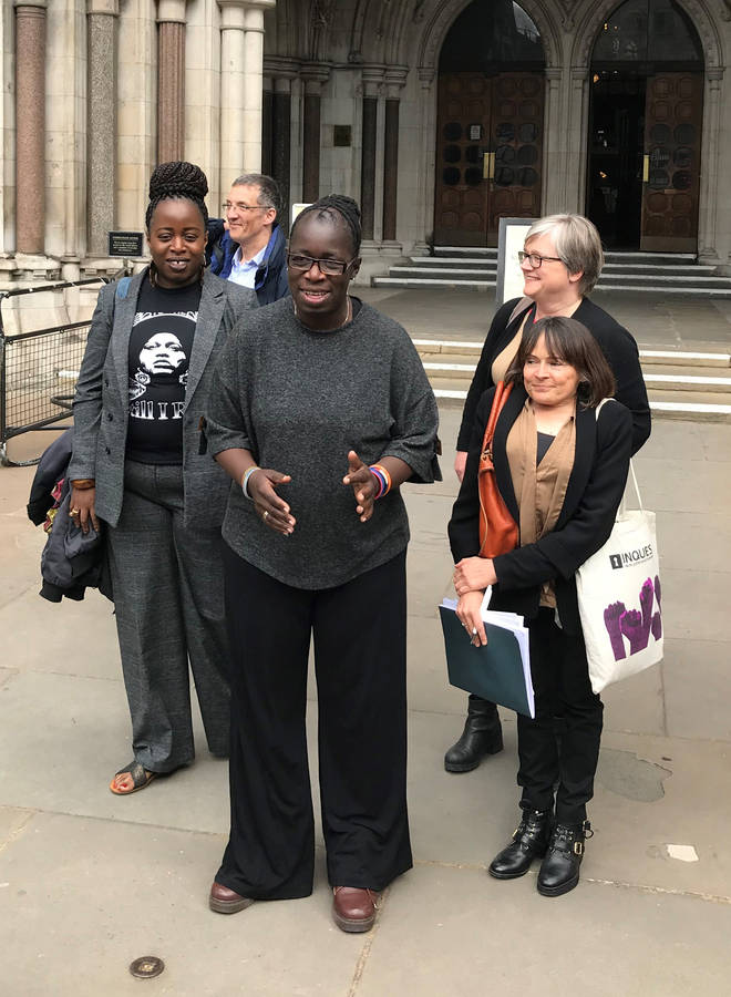 Rosamund Kissi-Debrah speaking outside the High Court in central London, after judges ruled that a fresh inquest will be held
