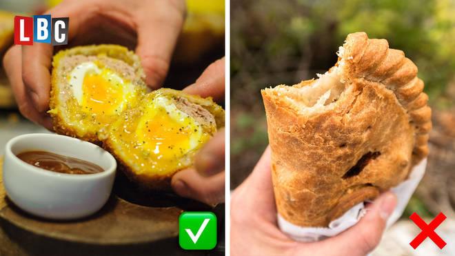 ❌ Cornish pasty on its own ✅ A scotch egg