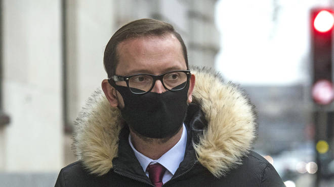 Adamo Canto leaving Westminster Magistrates' Court on Monday