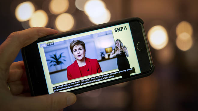 Nicola Sturgeon announced the one-off NHS payment during a speech at the SNP conference