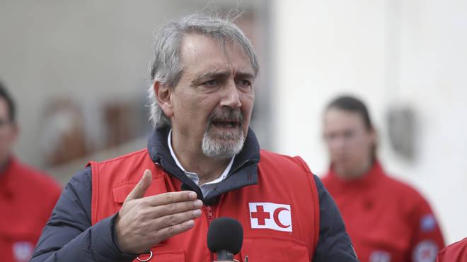 International Federation of Red Cross President Francesco Rocca