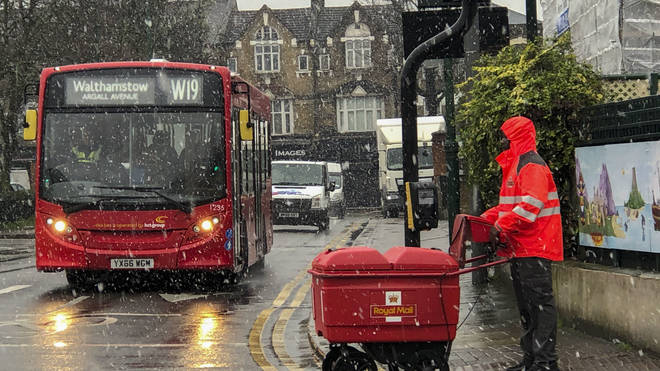 London is not expected to see much snow