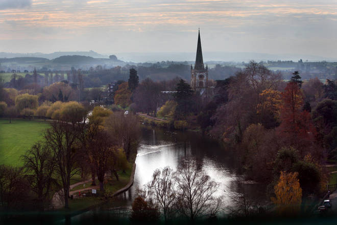 File photo: View of the spire of Holy Trinity Church in Stratford-upon-Avon