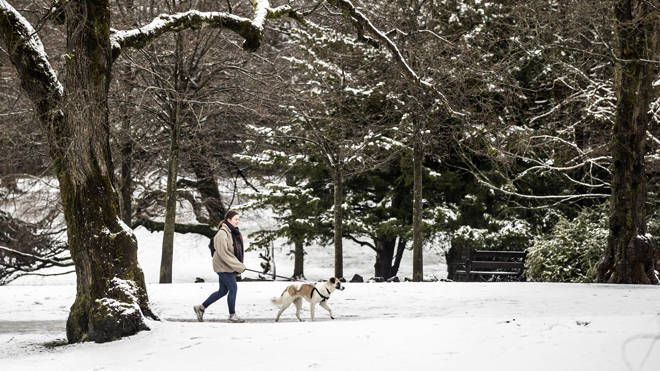 There are snow warnings in place for some parts of the UK