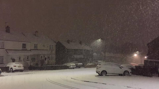 Police said they had received numerous calls about 'thundersnow'