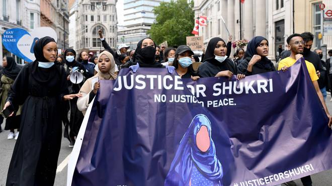 A Black Lives Matter march in memory of Shukri Abdi