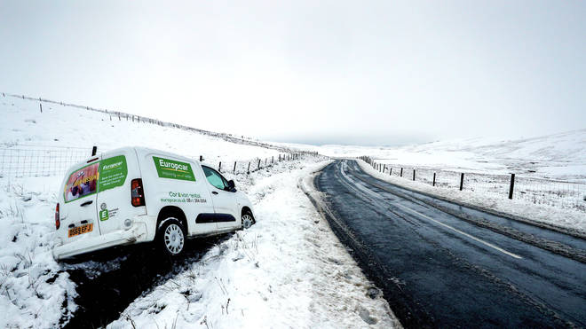 """The Met Office are warning people to """"take it steady"""" when travelling, with more snow forecast in Wales and eastern Scotland."""