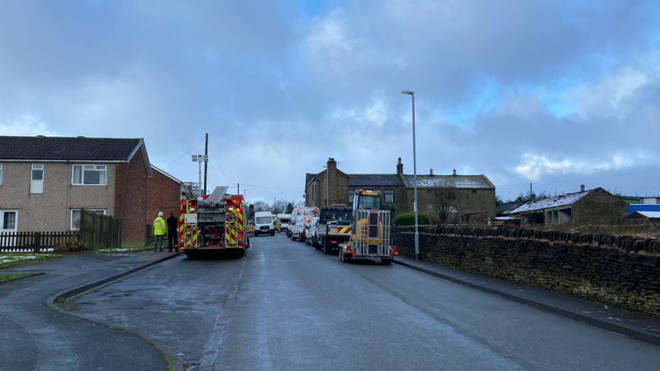 Emergency services are at the scene
