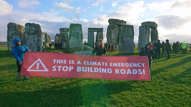 Stonehenge is closed for the remainder of Saturday due to the protest, but plans to reopen on Sunday.