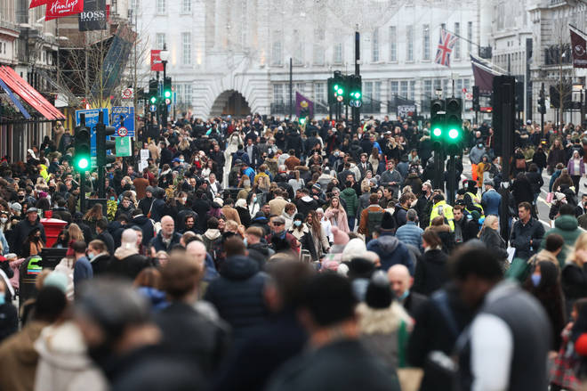 Tens of thousands of shoppers went to Regent Street on Saturday