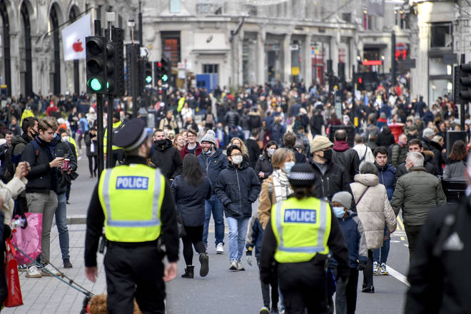 The Met Police asked shoppers to respect the rules as streets in the Capital get busier