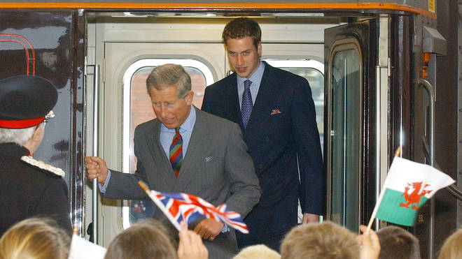 Prince William visited Wales using the royal train for his 21st birthday