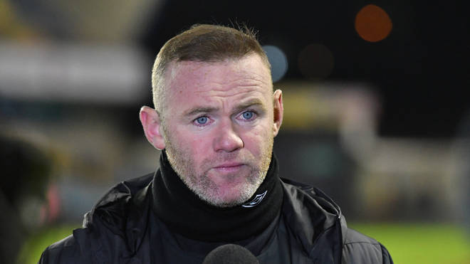 "Derby&squot;s interim boss Wayne Rooney said ""no one condones that behaviour"""