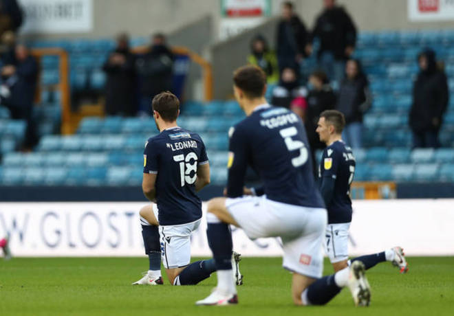Millwall fans could be heard booing players who took a knee in solidarity with the Black Lives Matter movement