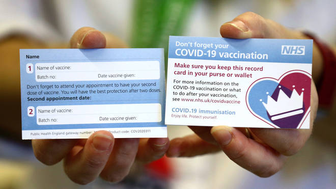 Vaccine cards are expected to be given to all people who receive the coronavirus vaccine