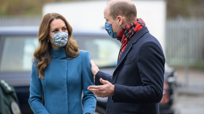 The Duke and Duchess of Cambridge during a visit to the Scottish Ambulance Service response centre in Newbridge, Edinburgh