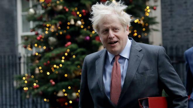 Boris Johnson in Downing Street on Tuesday