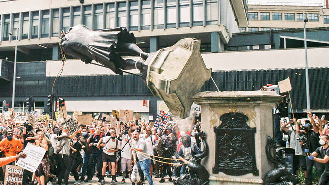 The statue was torn down by protesters in June this year