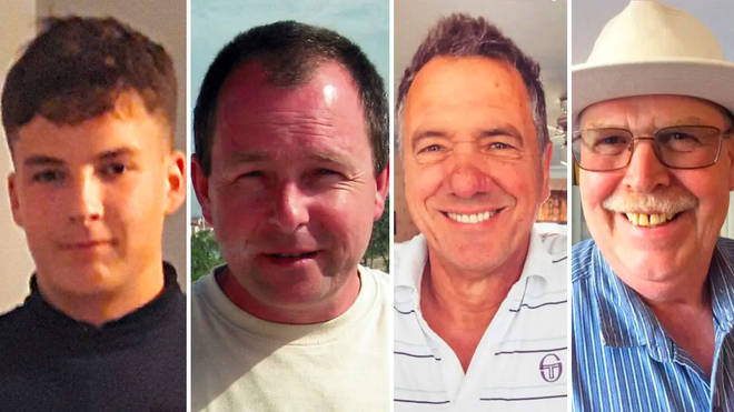Luke Wheaton, Ray White, Brian Vickery and Mike James all died in the blast