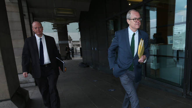 Patrick Vallance and Chris Whitty arrive at Portcullis House to speak at the Commons Home Affairs Committee.