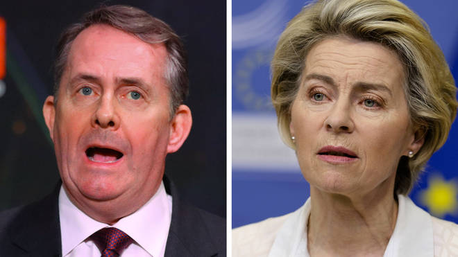 Dr Liam Fox told LBC the EU wants to keep UK aligned to its laws