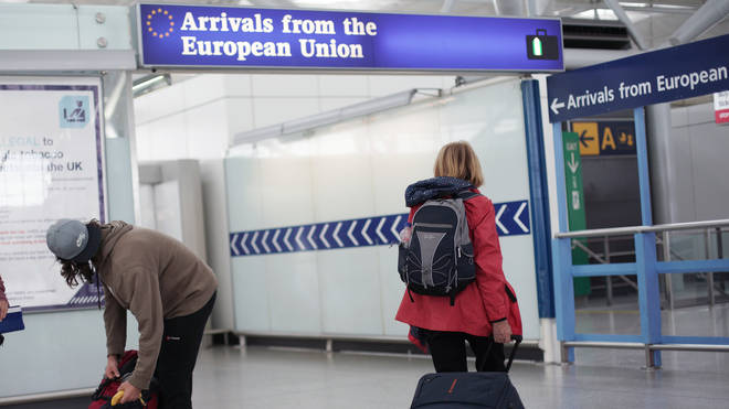 Brits could face a curb on EU travel