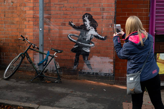 The artwork in Nottingham was confirmed as a work of street artist Banksy.