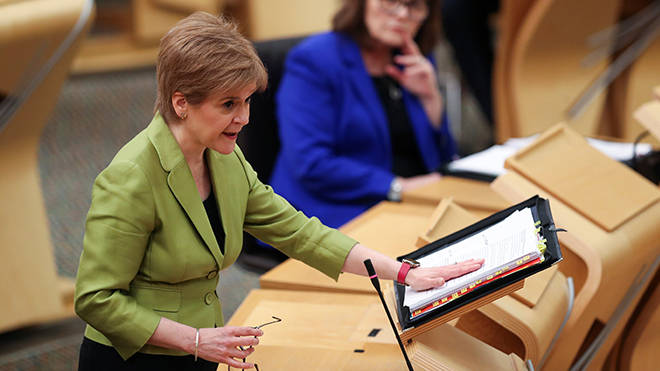 Nicola Sturgeon was speaking at First Minister's Questions at the Scottish Parliament.