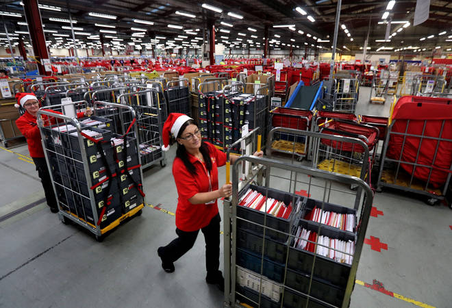 Royal Mail said they have recruited temporary staff in the run up to Christmas