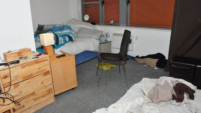 The room in Manchester where Sinaga sexually assaulted his victims.